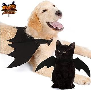 Yu-Xiang Dog Halloween Bat Wings Pet Costume Cat Apparel for Dog, Black