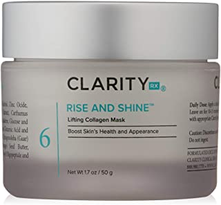 ClarityRxRise and Shine Lifting Collagen Mask - IdealAnti AgingCreamy Face Mask with Collagen for Tightening and Moisturizing Skin