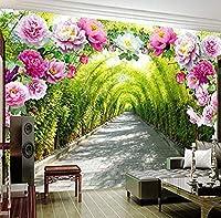 Bosakp カスタム写真の壁紙壁画3D花ドアギャラリープロムナード壁画背景壁3D壁紙 280X200Cm