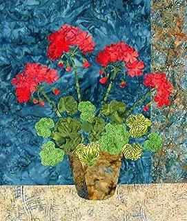5918 PT Geraniums Raw Edge Appliqué Pattern by Laundry Basket Quilts