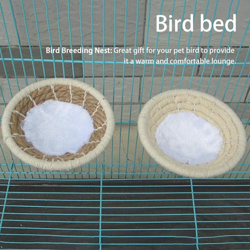 FDKJOK Bird Cage Nest Cotton Weave Rope Bird House Bed for Small Parrots Budgie Parakeet Cockatiel Lovebird
