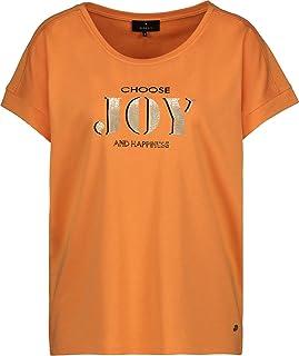 MONARI - Maglietta da donna con stampa glitter e scollo rotondo