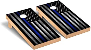 Victory Tailgate Thin Blue Line Police Themed Cornhole Game Set