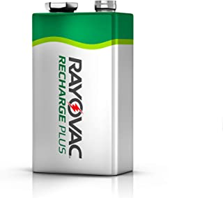 Rayovac Rechargeable 9V Batteries, High Capacity Rechargeable Plus 9V Battery (1 Count)