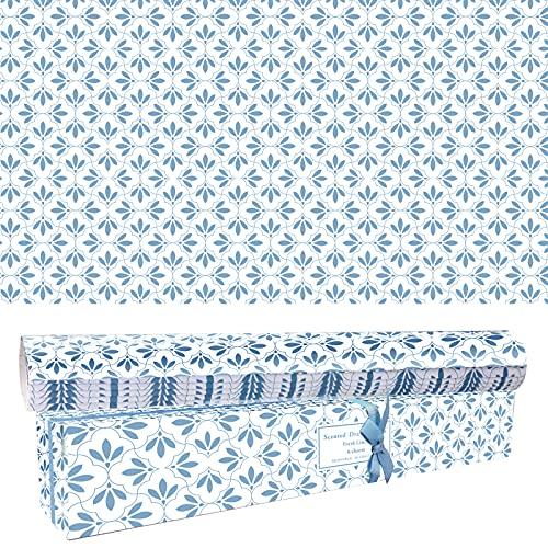 SCENTORINI Duftendes Schrankpapier Schubladeneinlagen Perfekt für Kommode, Kleiderschrank, Schubladen, Regalen, 6 Blatt cm. 42 x 58 (Frisches Leinen)