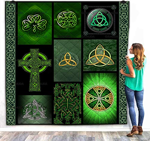 Celtic Knot Quilts Blanket Comforters Full Size Best for Home Bed Sofa Decorations and Gift