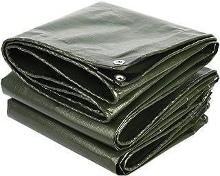 HU Outdoor Tarpaulin Waterproof Heavy Duty Canvas - Green Tarp Sheet - Premium Quality Cover Tarp Oilcloth (Size : 3m x 4m/10ft x 13ft)