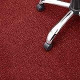 Floori® Nadelfilz Teppich, GUT-Siegel, Emissions- & geruchsfrei, wasserabweisend | Viele Farben & Größen (100x200 cm, rot)