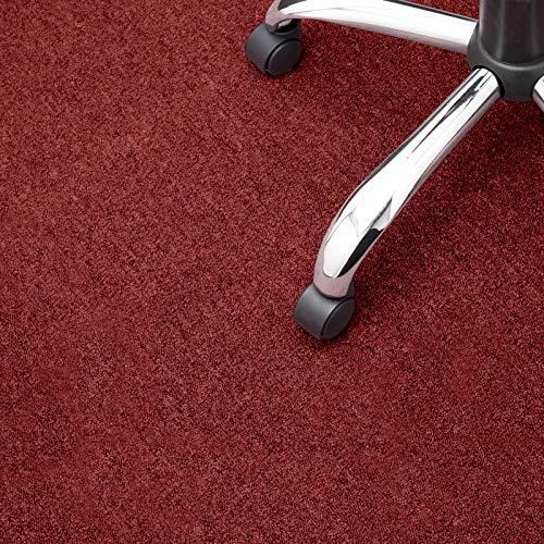 Floori® Nadelfilz Teppich, GUT-Siegel, Emissions- & geruchsfrei, wasserabweisend   Viele Farben & Größen (100x200 cm, rot)