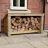 Rutland County Garden Furniture LANGHAM MAJOR OUTDOOR WOODEN LOGSTORE - HEAVY DUTY