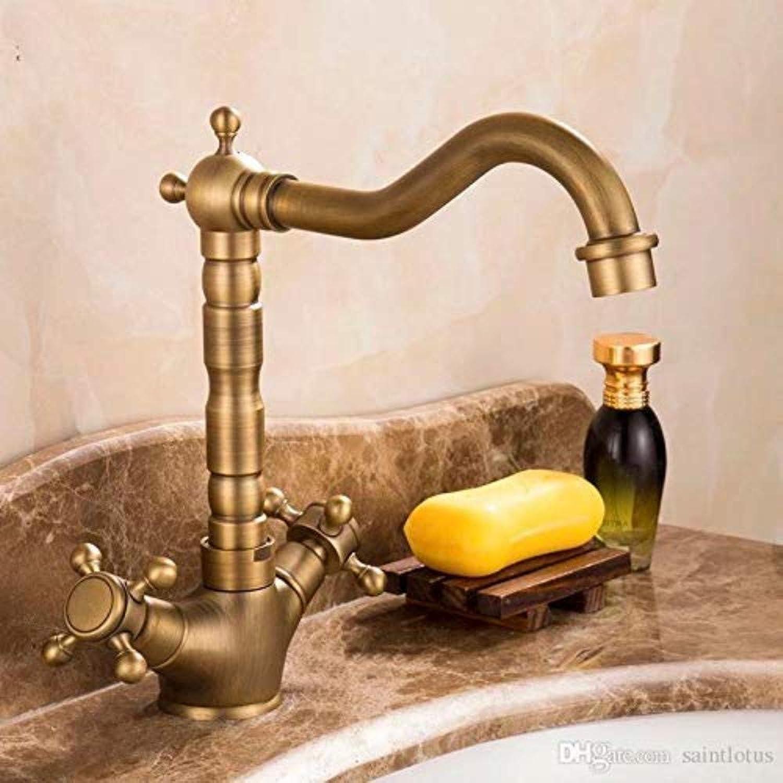 360° redating Faucet Retro Faucet Kitchen Faucet Antique Bronze Brass Kitchen Sink Faucet