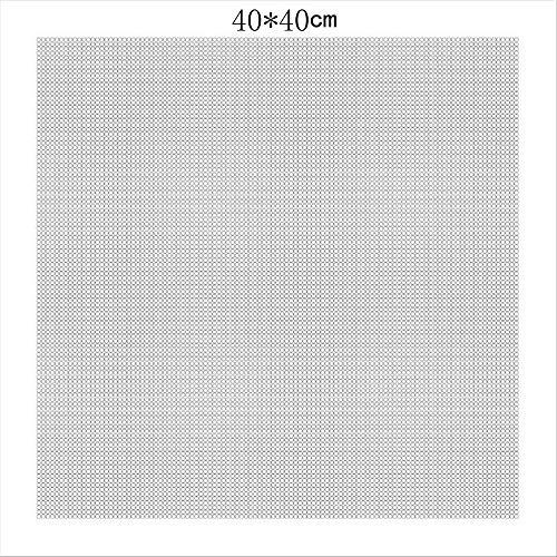 Diamant-Stickerei-Leinwand mit Leim, leere Leinwand mit Markierungen, Diamantmalerei, leeres Raster, Klebeband, Leinwand, Zubehör, rund, 40 x 40 cm