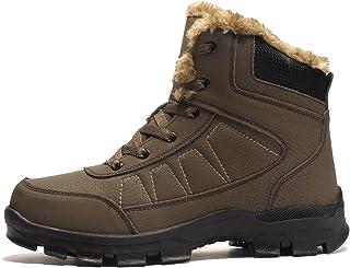 أحذية طويلة للرجال من Clinlllinisnxdj معطف المطر خارجي المشي لمسافات طويلة أحذية جلدية للرجال الرحلات، أحذية تسلق المشي لم...