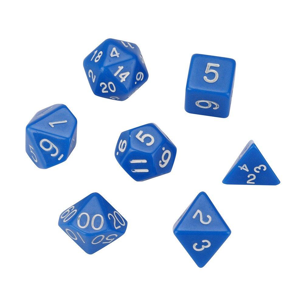 Dados de juegos de juguete accesorios dados accesorios Polyhedrische Rollenspiel Perlkorn D4-D20 dados con varios lados para TRPG juego, color H(Wie gezeigt): Amazon.es: Oficina y papelería