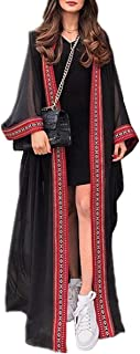 ملابس سباحة صيفية طويلة من القفطان بوهيميان للشاطئ كيمونو، فستان بمقاس فضفاض للنساء من يو كيه دي