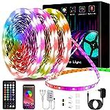 15m Tiras LED, L8star Luces Led Habitación 5050 RGB, Control Remoto 44 Botones y App, Sincronización Musical, 16 Millones de Colores 28 Modos Perfecta Para Decoración TV, Salón Fiestas Dormitorio