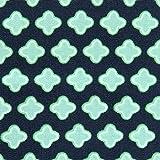MOORE DENIM Popeline Baumwollstoff Sterne grün-blau,