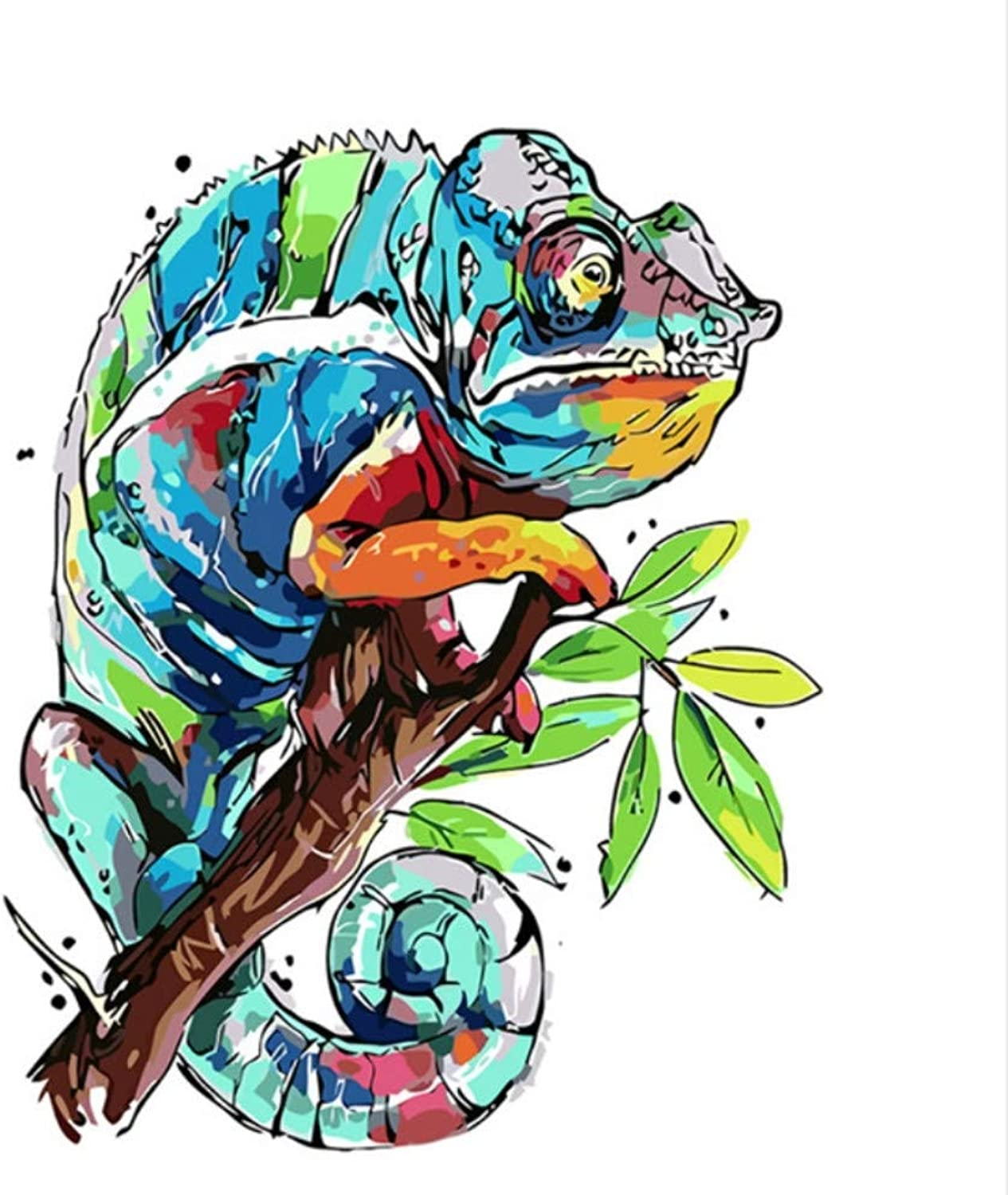 CAYYOU DIY Digital Painting By Numbers Frog Travel coloring Wall Art Picture Gift  Framed  50x60cm