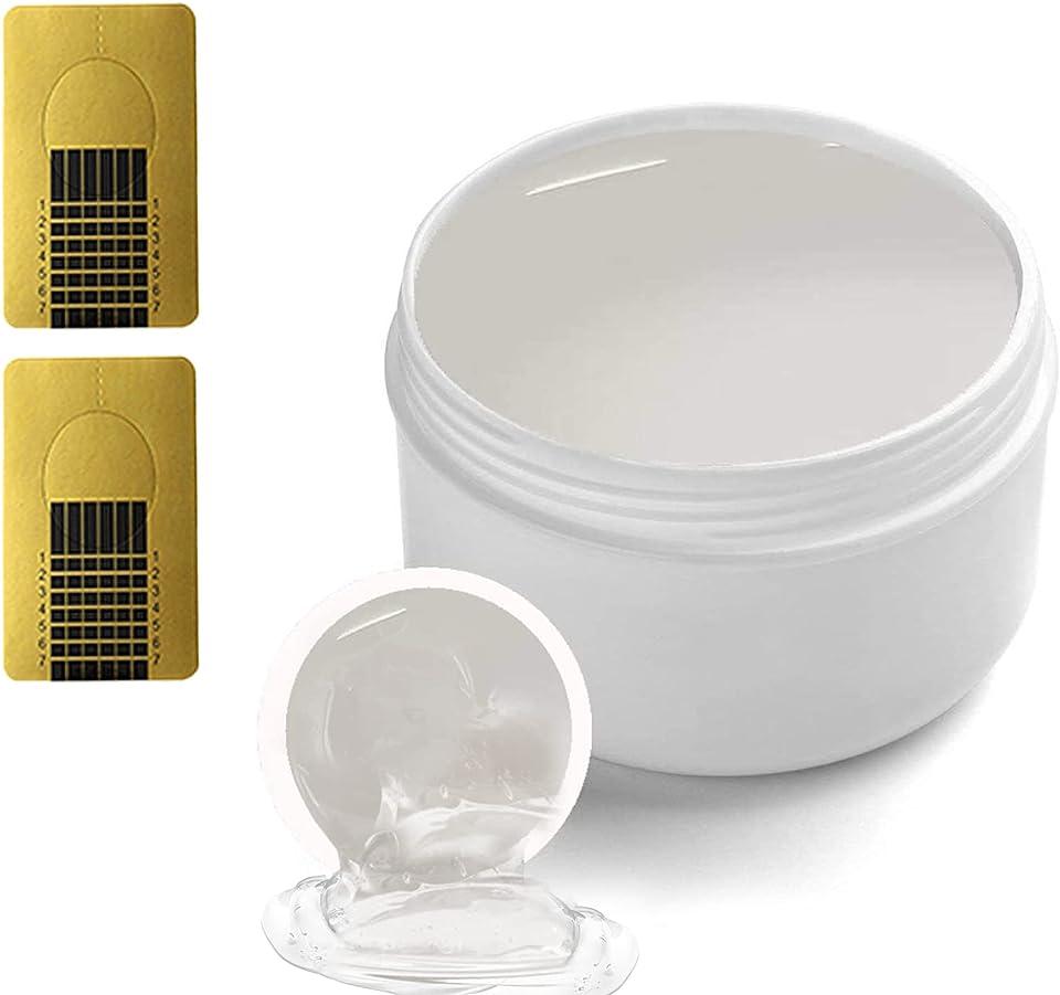 Ealicere10ml Aufbaugel versiegelungsgel für gelnägel acrylgel mit 48 Stück nagel schablone für nägel Naildesign und Nail art Nagelverlängerung Transparente