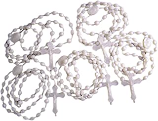 Moulded Acrylic Luminous Prayer Bead Cord Rosary with Sacred Heart Centerpiece, Pack of 100