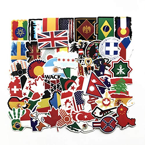 Weltflagge Set Aufkleber Wasserdicht Reisekoffer Aufkleber Computer Carsticker Flakes Scrapbooking Journal Aufkleber 52 STK