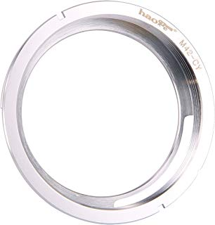 Haoge Manual Lens Mount Adapter for M42 42mm Screw mount Lens to Contax Yashica CY mount Camera