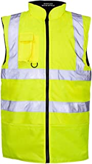 RIDDLED WITH STYLE Mens Hi Viz Gilet Waistcoat Adults High Visibility Light Weight Body Warmer