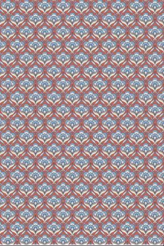 Décopatch Papier No. 767 Packung mit 20 Blätter (395 x 298 mm, ideal für Ihre Papmachés) rot blau, blumenmotiven