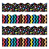 Bulletin Borders Stickers, 80 ft Back-to-School Decoration Borders for Bulletin Board/Black Board/Chalkboard/Whiteboard Trim, Teacher/Student Use for Classroom/School Decoration, 2 Set