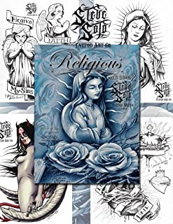 Religious Sketchbook #2 Tattoo Design Flash Book by Steve Soto (30-Pages)