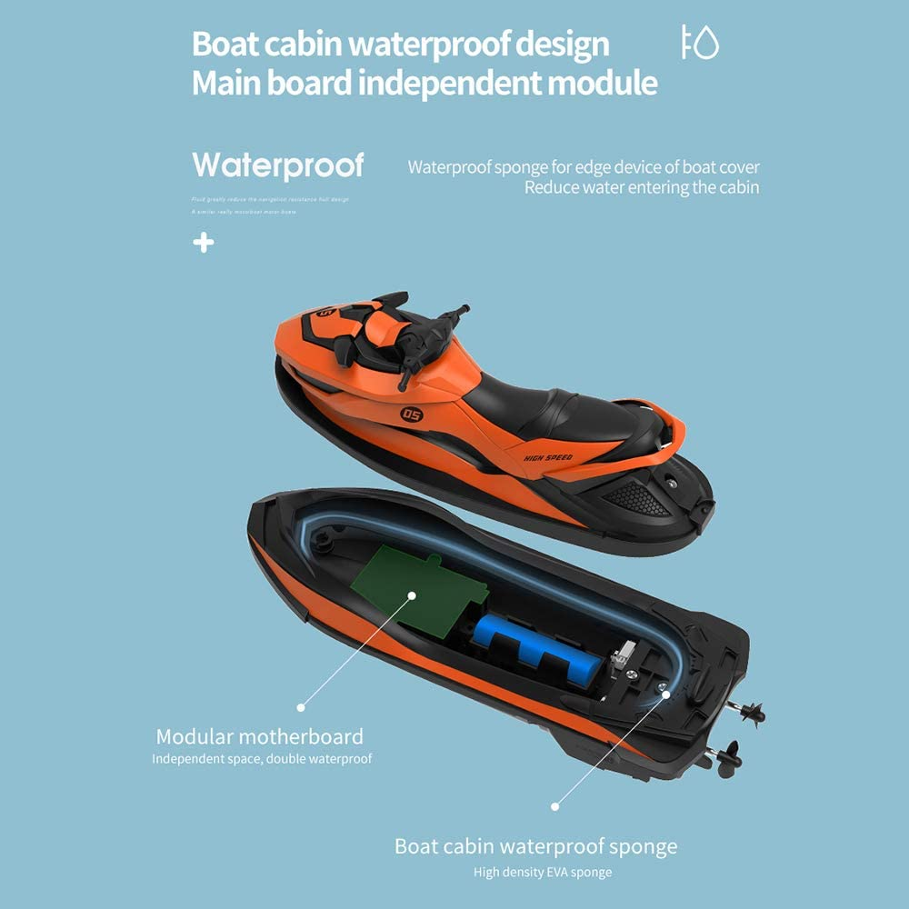 GoolRC RC Motorboat RC Boat High Speed Remote Control Boat for ...