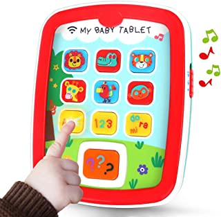 REMOKING Mini Baby Tablet,Kid's Learning Play Centre with Lights and Sounds, Toddlers,Boys and Girls Early Educational Dev...