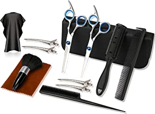 Hair Cutting Scissors Set, Professional Stainless Steel Haircut Shears with Hair Cutting Scissors Kit, Thinning Shears, Ha...