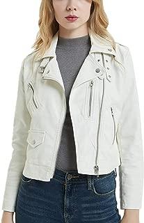 DISSA PP2016Y1 Women Faux Leather Biker Jacket Slim Coat Leather Jacket