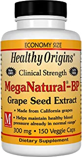 Healthy Origins Mega Natural BP-Grape Seed Extract Multi Vitamins, 300 Mg, 150 Count
