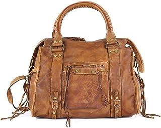 BZNA Bag Simona cognac Italy Designer Damen Ledertasche Handtasche Schultertasche Tasche Leder Beutel Neu