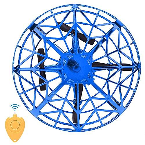 YOUTHINK Mini Drone Flying UFO Toy Avión de Inducción Automática Avión Niños Regalo para Niños con Drone Volador Giratorio de 360 Grados(Azul)