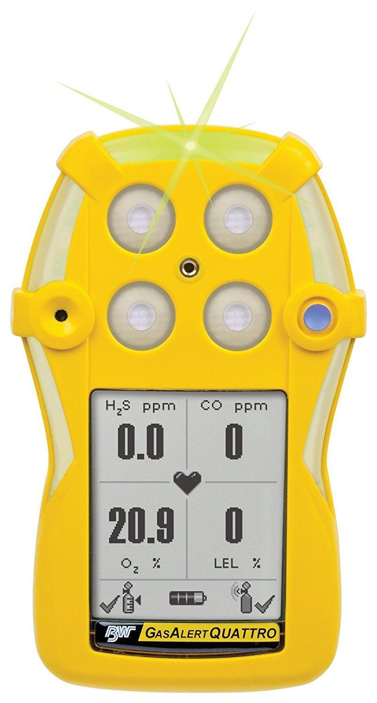 Max 74% OFF BW Technologies QT-XWH0-A-B-NA GasAlertQuattro Detector wi Popular brand in the world 3-Gas