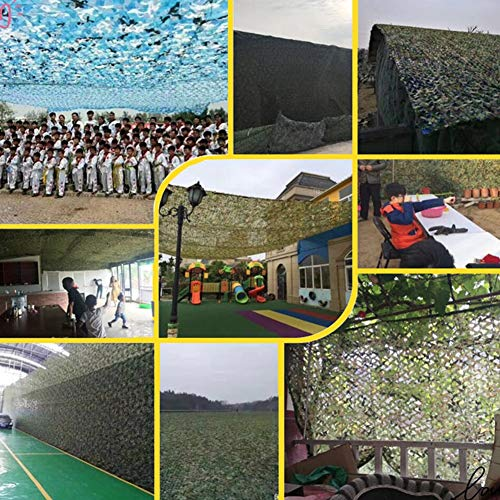 QIANGDA Camouflage Netting Camo Net Sunscreen Nets For Military Hunting Shooting Blind Watching Hide Party Decorations (Size : 1.5x3m)