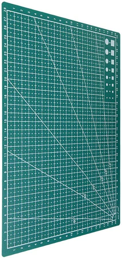 Raybre Art/® 2pcs A4 Double-sided Grid Lines Cutting Board Mat Self-healing Cutting Craft Pad Blue