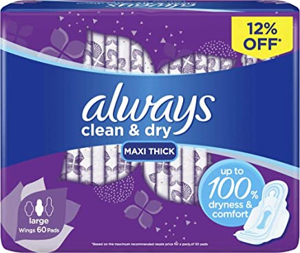 Always Mesh Maxi Thick, Large sanitary pads, 60 pads