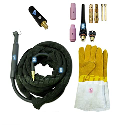 WeldingCity TIG Welding Torch 200A 25-ft Air-Cool WP-26 Replacement for