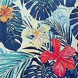 NOVELY® Tropicana Velours mit tropischen Palmen samtiger