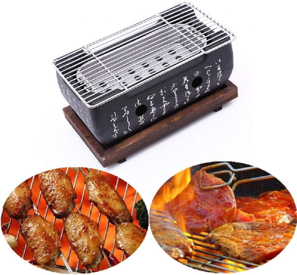 Cast Iron Max 46% OFF Grill Table Safety and trust Top Portable Charcoal Japanese