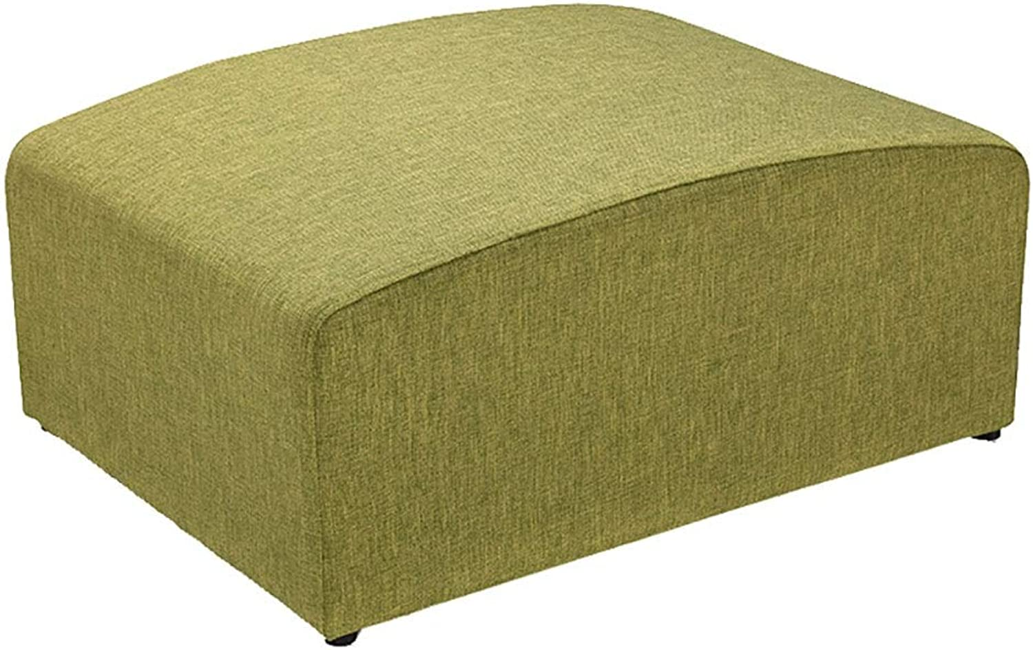 Stool Footstool shoes Bench Removable And Washable Cotton Floor Osman Bench Suitable for Living Room Corridor (color   Grass green, Size   46x66x32cm)