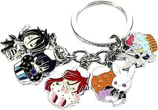 Black Butler Keychain Key Ring Anime Manga TV Show Auto/Boat House Keys