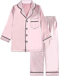Sponsored Ad - Umeyda Kids Boys Girls Satin Long Pajamas Set