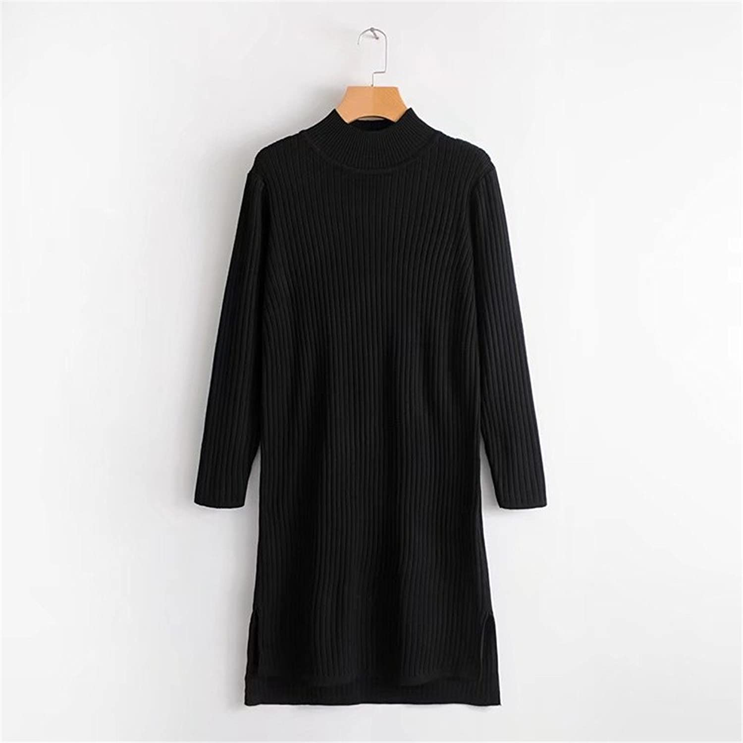 Long sleeve knitted sweater, autumn and winter fashion shirt, long sleeve knitted sweater, dress,black,F