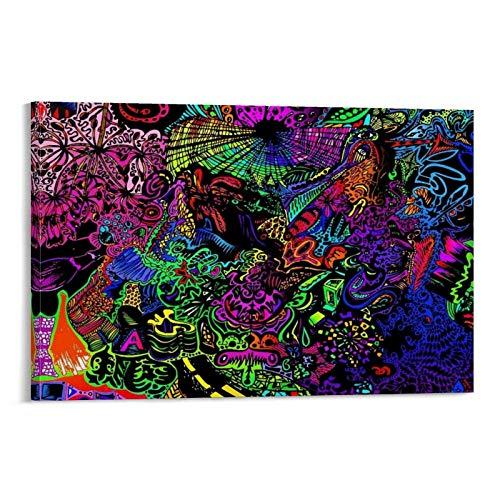 DRAGON VINES Póster de Alicia en el país de las maravillas para decoración de pared de 30 x 45 cm, póster del alfabeto para los niños para la habitación estética de los 90 tríptico