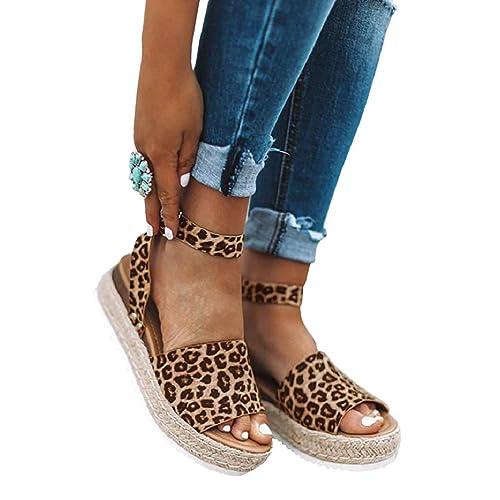 d08c054b86892 Leopard Print Platform Sandals: Amazon.com